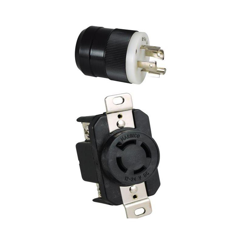 Marinco 60 Amp 4 Wire Plug & Receptacle