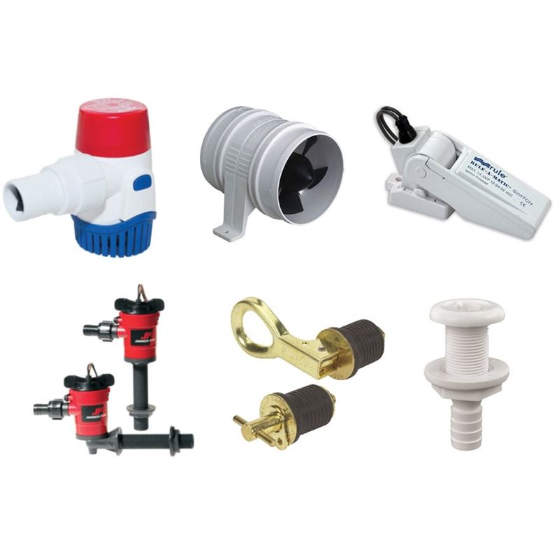 Bilge Pumps, Blowers, Hoses, Fittings & Accessories