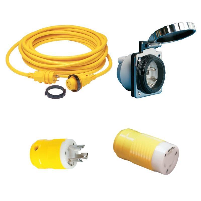 Shore Power Cordsets, Plugs & Receptacles
