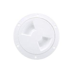 ATTWOOD 12790-3 WHITE 4 INCH DECK PLATE