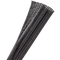 F6N0.75 BLACK 50ft X 3 / 4 INCH SPLIT TECHFLEX EXPANDABLE SLEEVING